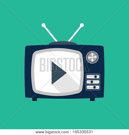 Tv set icon, design element for mobile and web applications, eps 10