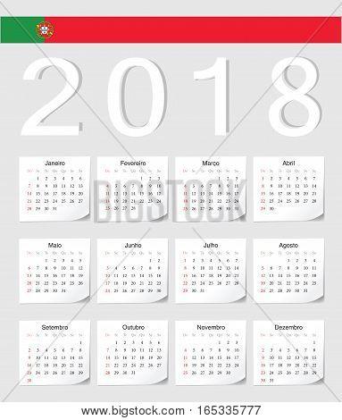 Portuguese 2018 Calendar