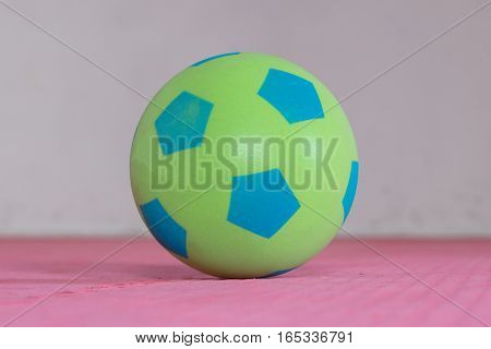 Shot Of A Green Foam Ball