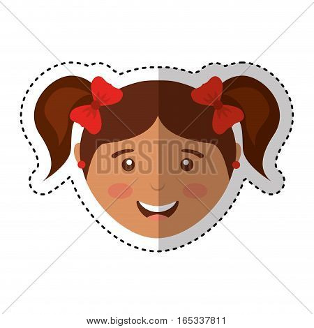 cute girl character icon vector illustration design