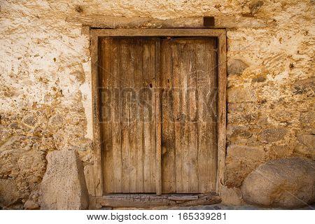 Old door in Kakopetria village in Cyprus.