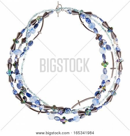 Necklace From Lapis Lazuli And Sodalite Stones