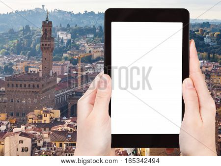 Photo Of Skyline Of Florence With Palazzo