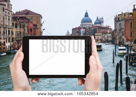 Tourist Photographs Venice Cityscape