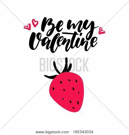 Valentine s Day vector lettering . Isolated handwriting calligraphy love quotes and inscriptions. Modern romantic design elements for holiday card, gift tag, banner, poster, postcard