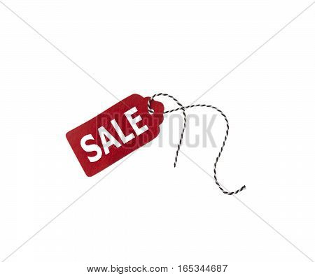 Gift tags isolated on white background. Sale labels. Price tags. Special offer and promotion. Store discount. Shopping time. Label from gray felt.