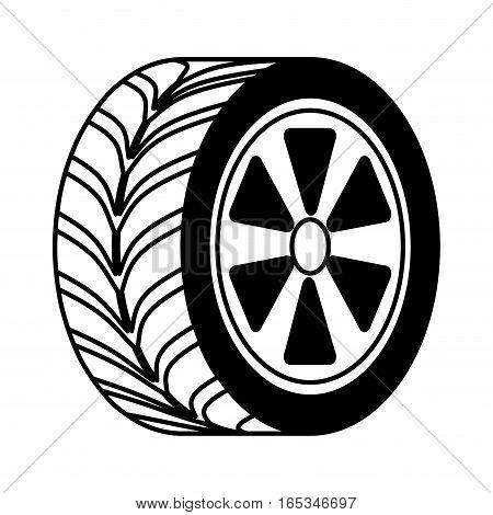 car tire isolated icon vector illustration design