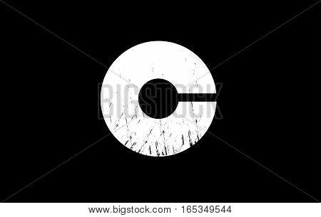 Alphabet letter C bold black white grunge vintage background vector logo icon sign design template