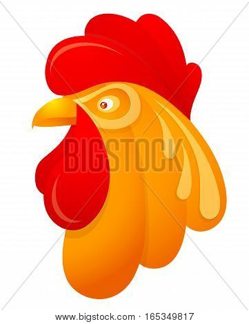 Rooster cartoon as symbol for 2017 by Chinese zodiac