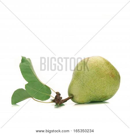 a green pear  isolated on a white background