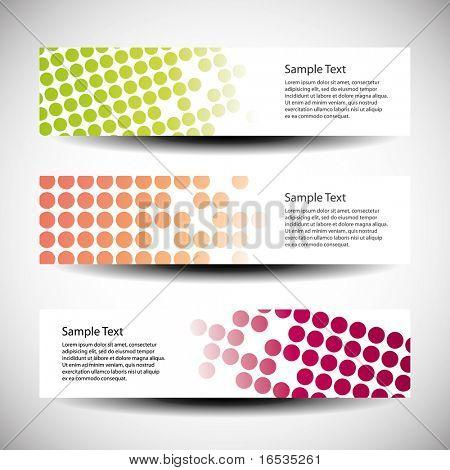 Colorful vector set of tree header design