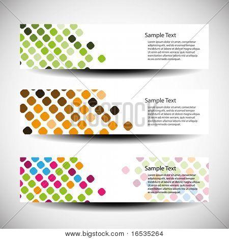 Kleurrijke vector set van boom header design