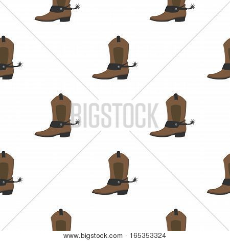 Cowboy boot icon cartoon. Singe western icon from the wild west cartoon. - stock vector