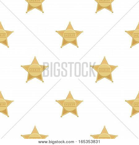 Sheriff icon cartoon. Singe western icon from the wild west cartoon. - stock vector