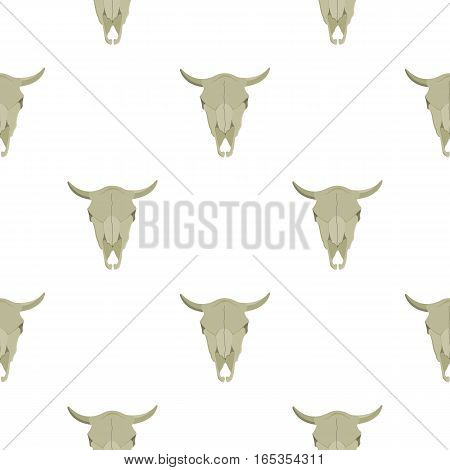 Bull skull icon cartoon. Singe western icon from the wild west cartoon. - stock vector