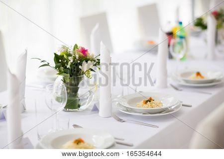 Beautiful Wedding Reception Table Decoration