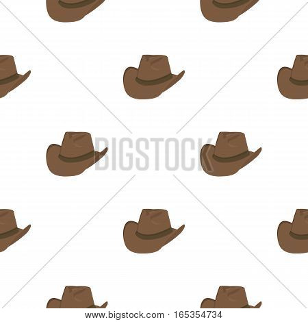 Cowboy hat icon cartoon. Singe western icon from the wild west cartoon. - stock vector