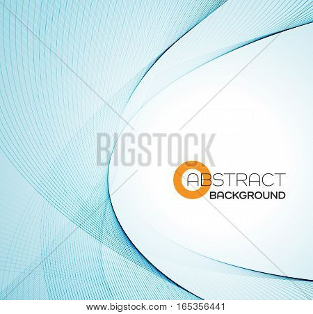 Vector Abstract color blue wave design element.