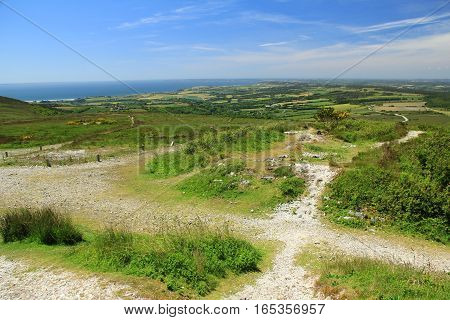 Landscape in Brittany Finistere - View from Menez Hom