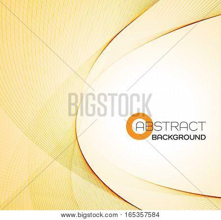 Vector Abstract color orange wave design element.