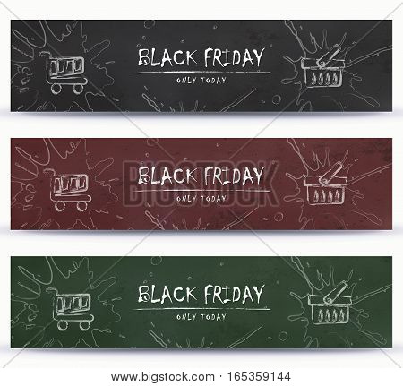 Black Friday, Clearance, Sale, Shopping banner template design