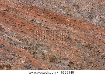 Dry Lava Basaltic Rock