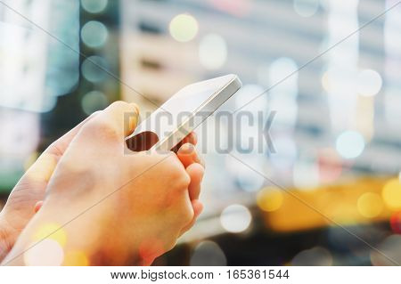 People Using a Smart Phone background,Communication technology,Social media life