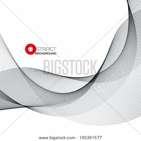 Vector Abstract black wave design element. EPS10