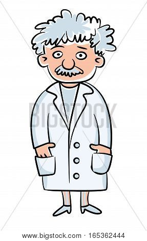 Scientist. Science Day. Vector illustration. Isolated on white background