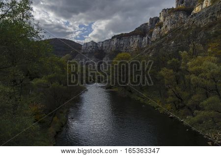 View toward part of river Iskar and Iskar defile, Lakatnik, Bulgaria