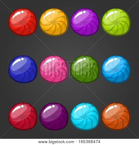 Big set of vector circle web bubbles. Game illustration