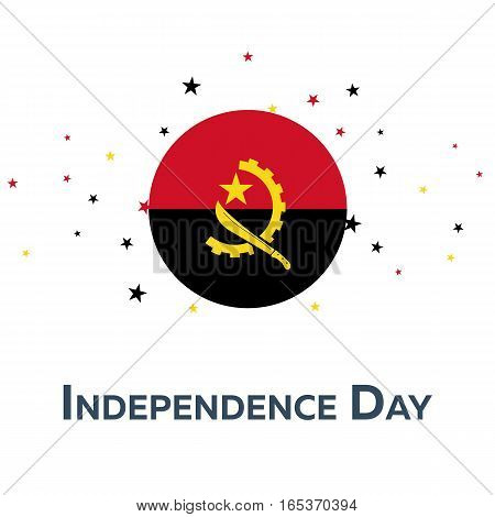 Independence Day Of Angola. Patriotic Banner. Vector Illustration.