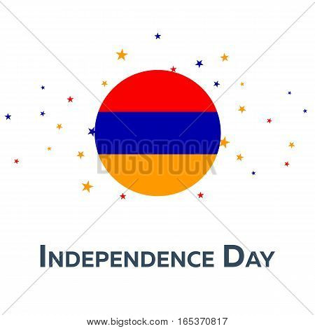 Independence Day Of Armenia. Patriotic Banner. Vector Illustration.