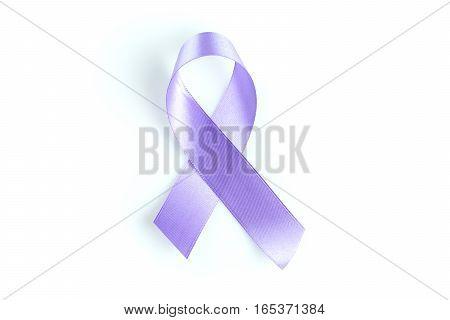 health symbol lavender ribbon on white background.
