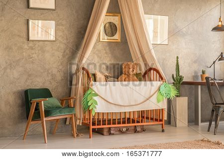 Apartment Area With Crib