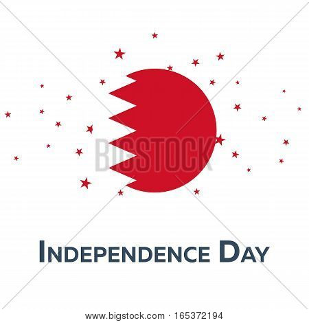 Independence Day Of Bahrain. Patriotic Banner. Vector Illustration.