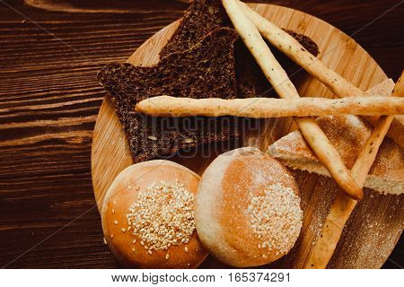 Beautiful Fresh Mixed Homemade Cooking Made From Whole Wheat Bread