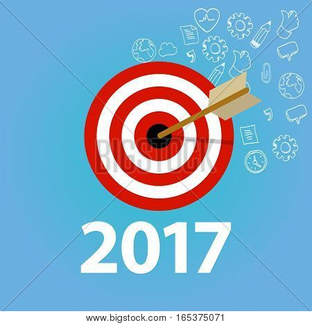 2017 target goals task list check new year resolution business personal vector