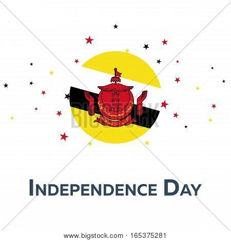 Independence Day Of Brunei. Patriotic Banner. Vector Illustration.