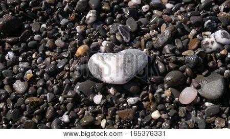 Summer mood. Sea stones pebble texture background