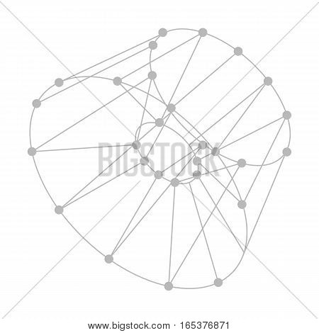 Vector abstract background. Modern technology illustration with mesh. Digital geometric abstraction with lines and points. Wave abstraction.