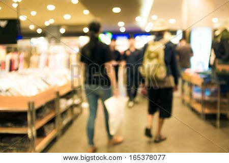 Blurred Background Of Fashion Wear Store