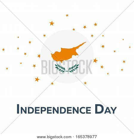 Independence Day Of Cyprus. Patriotic Banner. Vector Illustration.