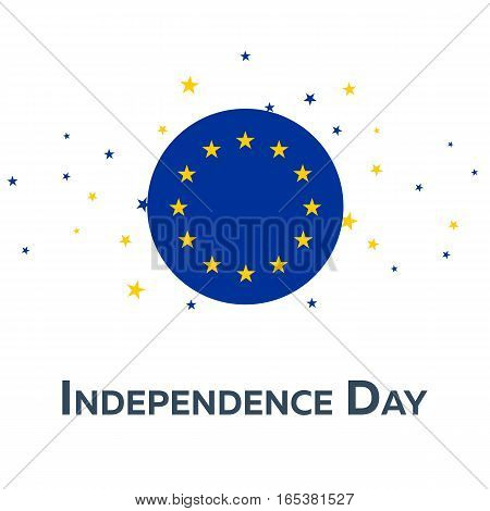 Independence Day Of European Union. Patriotic Banner. Vector Illustration.