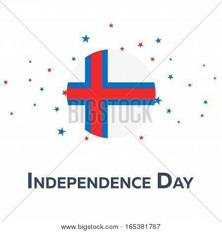 Independence Day Of Faroe Islands. Patriotic Banner. Vector Illustration.