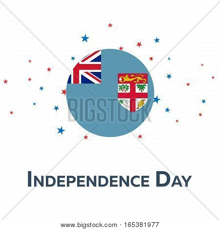 Independence Day Of Fiji. Patriotic Banner. Vector Illustration.