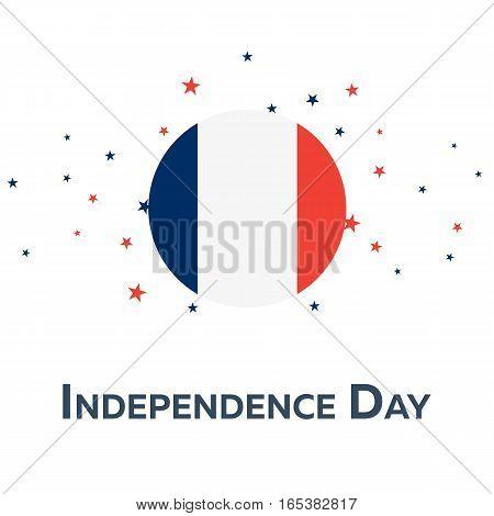 Independence Day Of France. Patriotic Banner. Vector Illustration.