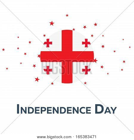 Independence Day Of Georgia. Patriotic Banner. Vector Illustration.