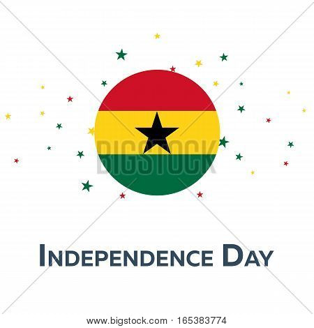 Independence Day Of Ghana. Patriotic Banner. Vector Illustration.