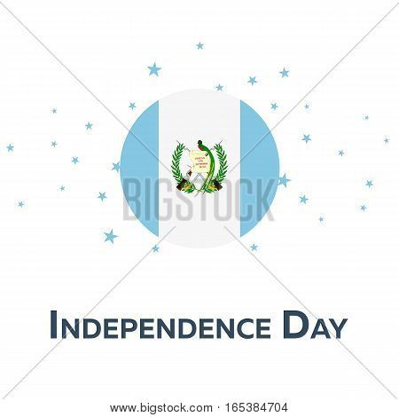 Independence Day Of Guatemala. Patriotic Banner. Vector Illustration.